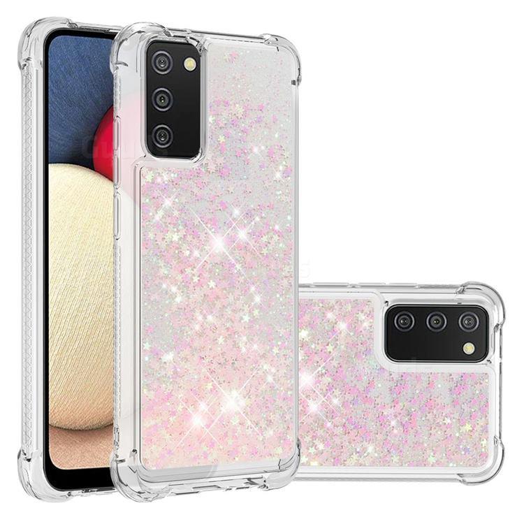 Dynamic Liquid Glitter Sand Quicksand TPU Case for Samsung Galaxy A02s - Silver Powder Star