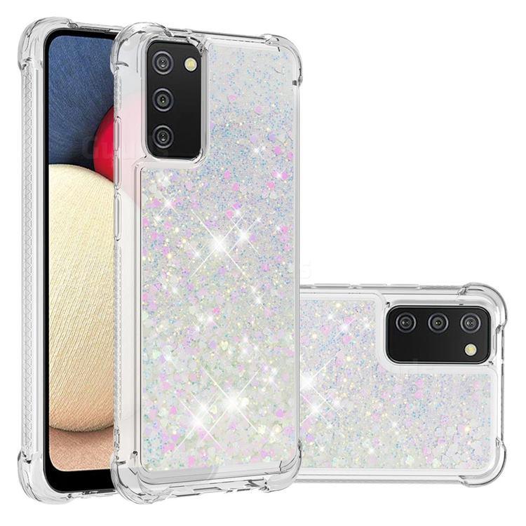 Dynamic Liquid Glitter Sand Quicksand Star TPU Case for Samsung Galaxy A02s - Pink