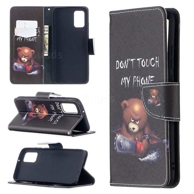 Chainsaw Bear Leather Wallet Case for Samsung Galaxy A02s