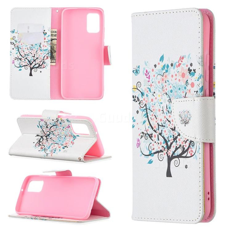 Colorful Tree Leather Wallet Case for Samsung Galaxy A02s