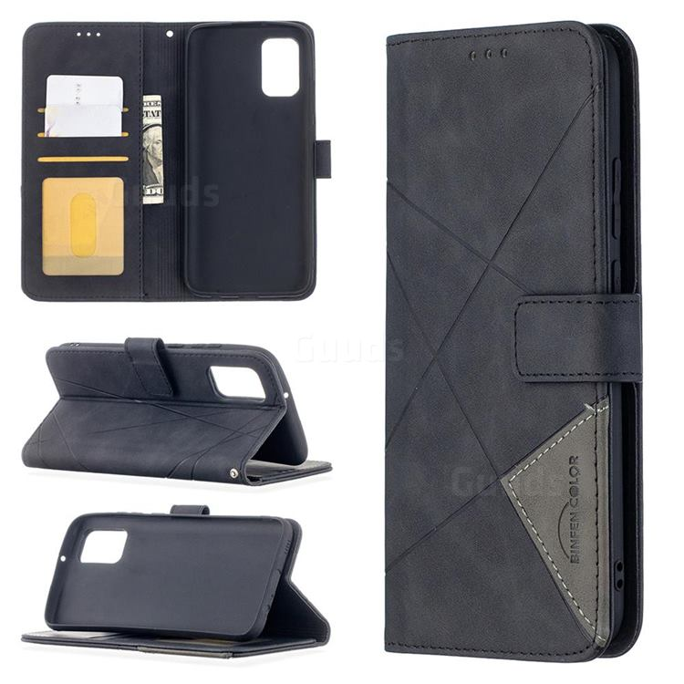 Binfen Color BF05 Prismatic Slim Wallet Flip Cover for Samsung Galaxy A02s - Black