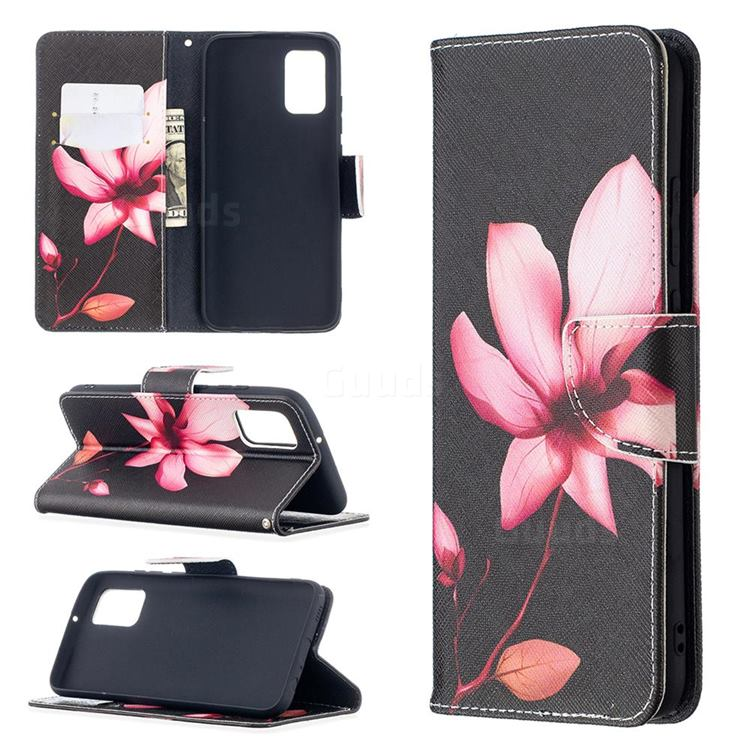Lotus Flower Leather Wallet Case for Samsung Galaxy A02s