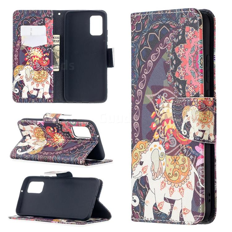Totem Flower Elephant Leather Wallet Case for Samsung Galaxy A02s