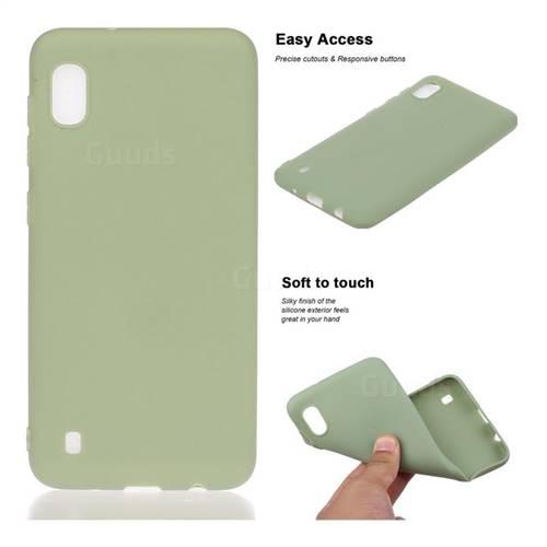 Soft Matte Silicone Phone Cover for Samsung Galaxy A10 - Bean Green