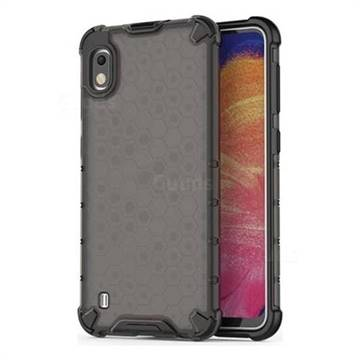 Honeycomb TPU + PC Hybrid Armor Shockproof Case Cover for Samsung Galaxy A10 - Gray