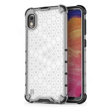 Honeycomb TPU + PC Hybrid Armor Shockproof Case Cover for Samsung Galaxy A10 - Transparent