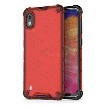 Honeycomb TPU + PC Hybrid Armor Shockproof Case Cover for Samsung Galaxy A10 - Red