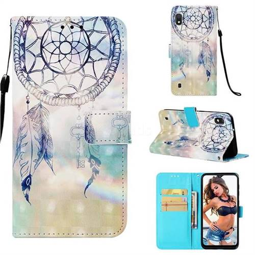 Fantasy Campanula 3D Painted Leather Wallet Case for Samsung Galaxy A10