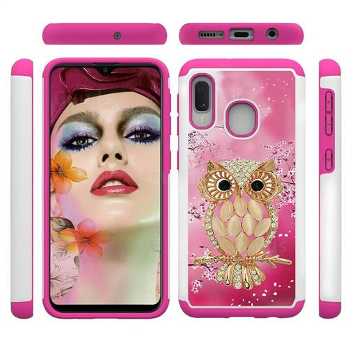 Seashell Cat Shock Absorbing Hybrid Defender Rugged Phone Case Cover for Samsung Galaxy A10e