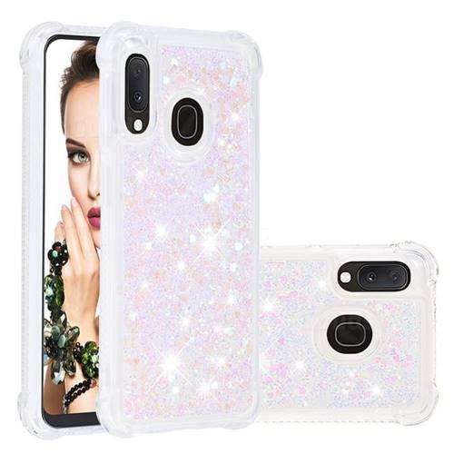 Dynamic Liquid Glitter Sand Quicksand Star TPU Case for Samsung Galaxy A10e - Pink