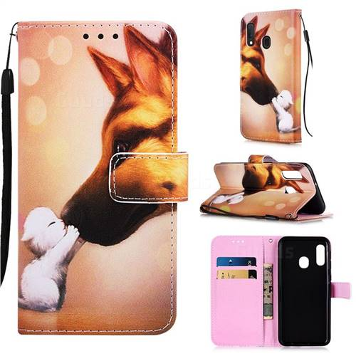 Hound Kiss Matte Leather Wallet Phone Case for Samsung Galaxy A10e