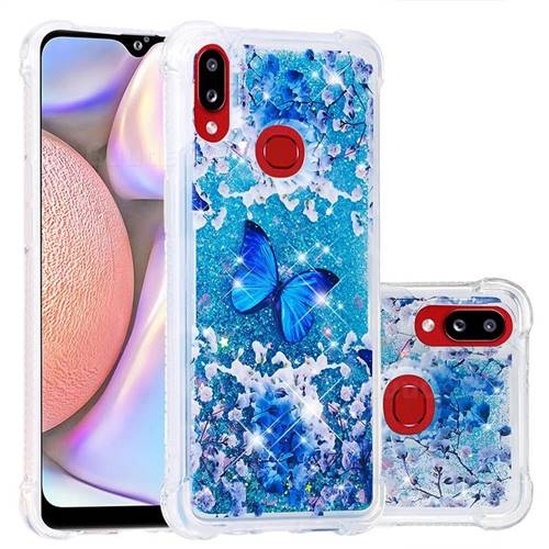 Flower Butterfly Dynamic Liquid Glitter Sand Quicksand Star TPU Case for Samsung Galaxy A10s
