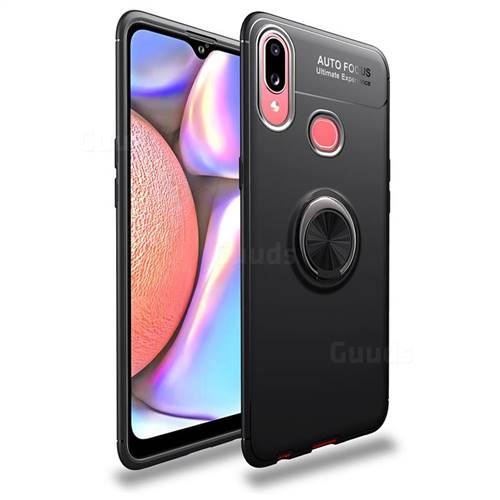 Auto Focus Invisible Ring Holder Soft Phone Case for Samsung Galaxy A10s - Black
