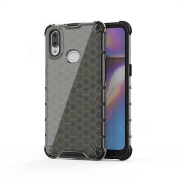 Honeycomb TPU + PC Hybrid Armor Shockproof Case Cover for Samsung Galaxy A10s - Gray