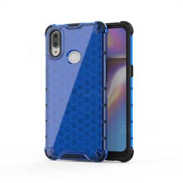 Honeycomb TPU + PC Hybrid Armor Shockproof Case Cover for Samsung Galaxy A10s - Blue