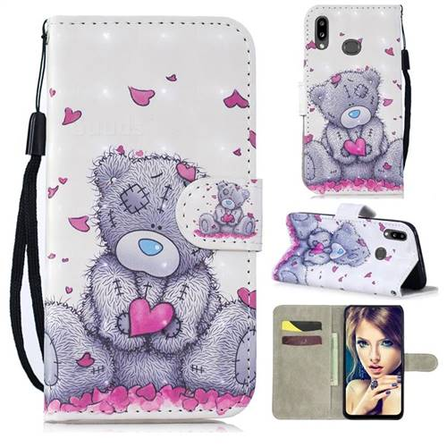 Love Panda 3D Painted Leather Wallet Phone Case for Samsung Galaxy A10s