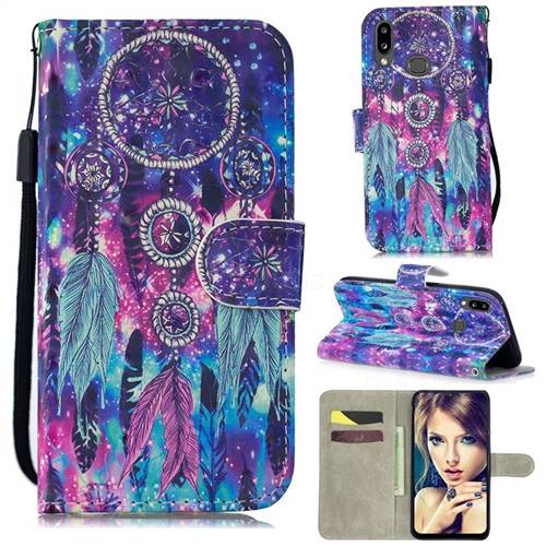 Star Wind Chimes 3D Painted Leather Wallet Phone Case for Samsung Galaxy A10s