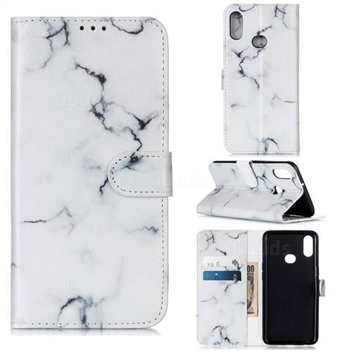 Soft White Marble PU Leather Wallet Case for Samsung Galaxy A10s