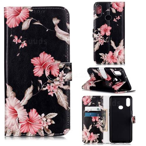 Azalea Flower PU Leather Wallet Case for Samsung Galaxy A10s