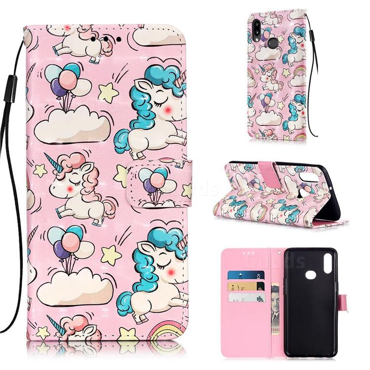 Angel Pony 3D Painted Leather Wallet Case for Samsung Galaxy A10s