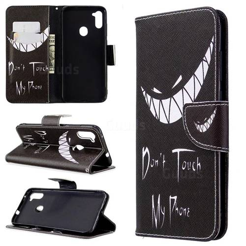 Crooked Grin Leather Wallet Case for Samsung Galaxy A11