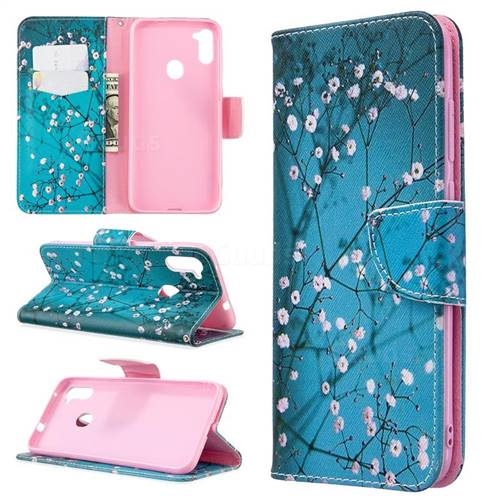 Blue Plum Leather Wallet Case for Samsung Galaxy A11