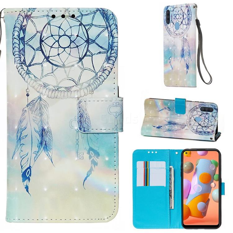 Fantasy Campanula 3D Painted Leather Wallet Case for Samsung Galaxy A11
