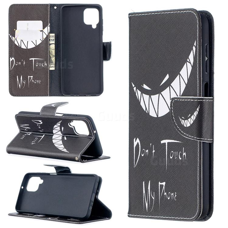 Crooked Grin Leather Wallet Case for Samsung Galaxy A12