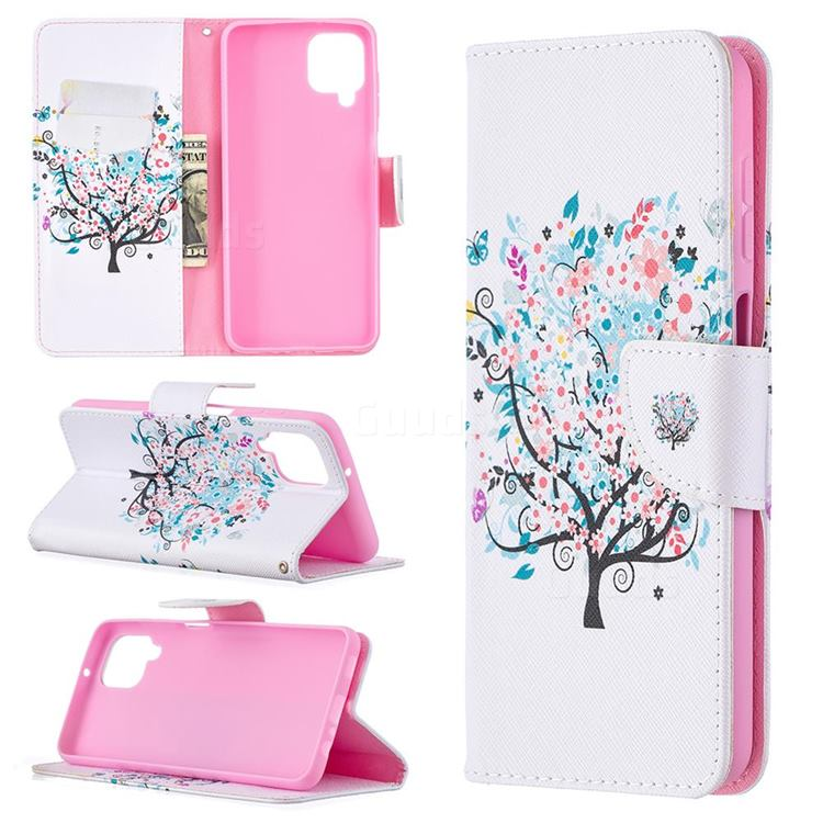 Colorful Tree Leather Wallet Case for Samsung Galaxy A12