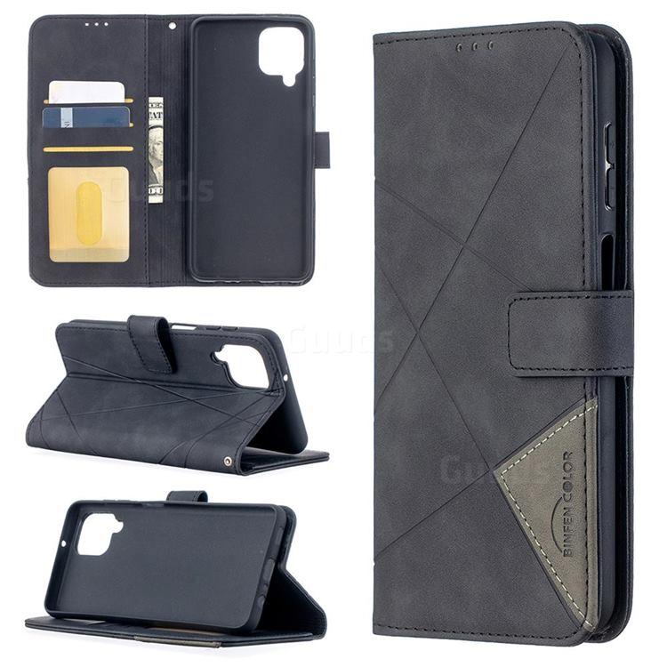 Binfen Color BF05 Prismatic Slim Wallet Flip Cover for Samsung Galaxy A12 - Black