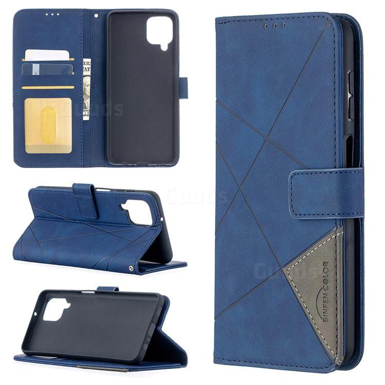 Binfen Color BF05 Prismatic Slim Wallet Flip Cover for Samsung Galaxy A12 - Blue