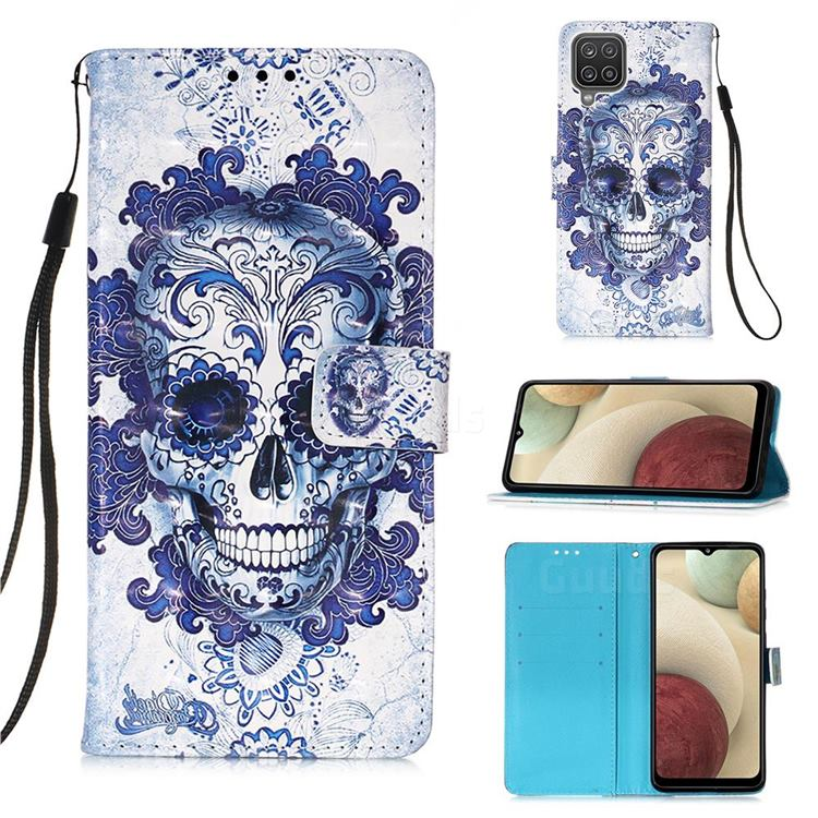 Cloud Kito 3D Painted Leather Wallet Case for Samsung Galaxy A12