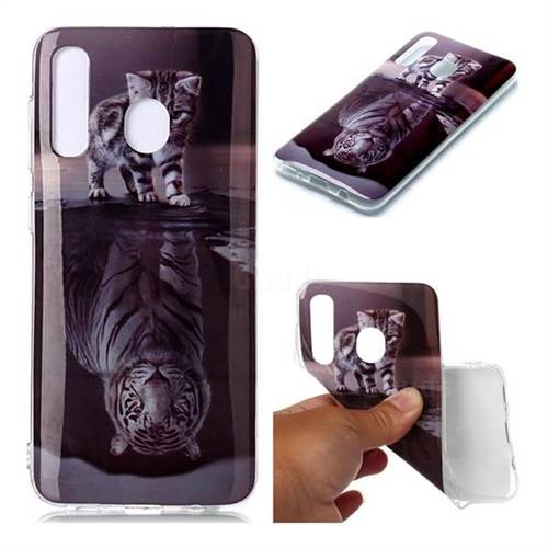 Cat and Tiger Soft TPU Cell Phone Back Cover for Samsung Galaxy A20