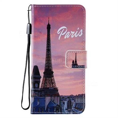 Paris Eiffel Tower PU Leather Wallet Case for Samsung Galaxy A20