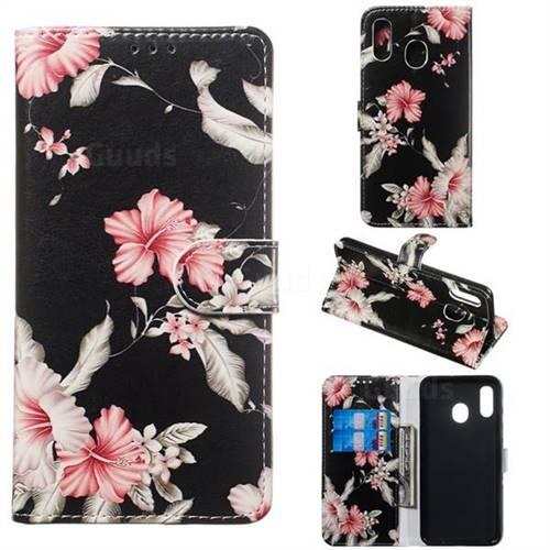 Azalea Flower PU Leather Wallet Case for Samsung Galaxy A20