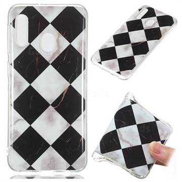 Black and White Matching Soft TPU Marble Pattern Phone Case for Samsung Galaxy A20e