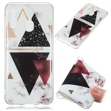 Four Triangular Soft TPU Marble Pattern Phone Case for Samsung Galaxy A20e