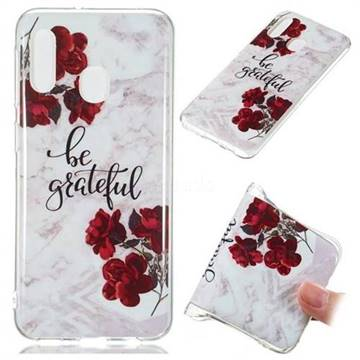 Rose Soft TPU Marble Pattern Phone Case for Samsung Galaxy A20e