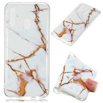 Platinum Soft TPU Marble Pattern Phone Case for Samsung Galaxy A20e