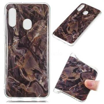 Brown Soft TPU Marble Pattern Phone Case for Samsung Galaxy A20e