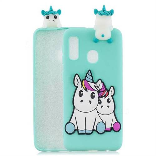Couple Unicorn Soft 3D Climbing Doll Soft Case for Samsung Galaxy A20e