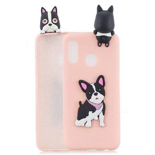 Cute Dog Soft 3D Climbing Doll Soft Case for Samsung Galaxy A20e