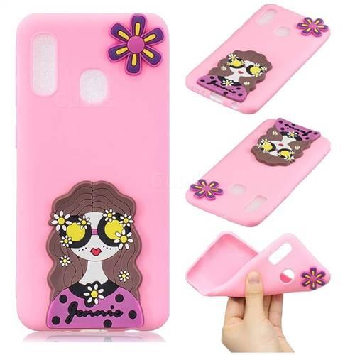 Violet Girl Soft 3D Silicone Case for Samsung Galaxy A20e