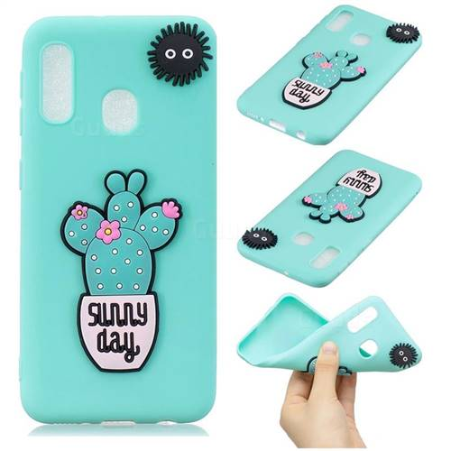 Cactus Flower Soft 3D Silicone Case for Samsung Galaxy A20e