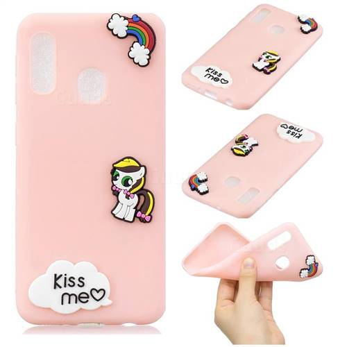 Kiss me Pony Soft 3D Silicone Case for Samsung Galaxy A20e
