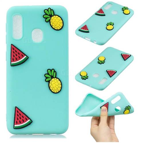 Watermelon Pineapple Soft 3D Silicone Case for Samsung Galaxy A20e