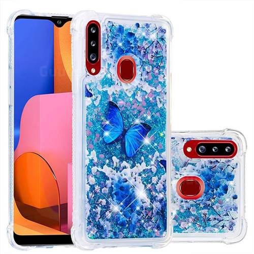 Flower Butterfly Dynamic Liquid Glitter Sand Quicksand Star TPU Case for Samsung Galaxy A20s