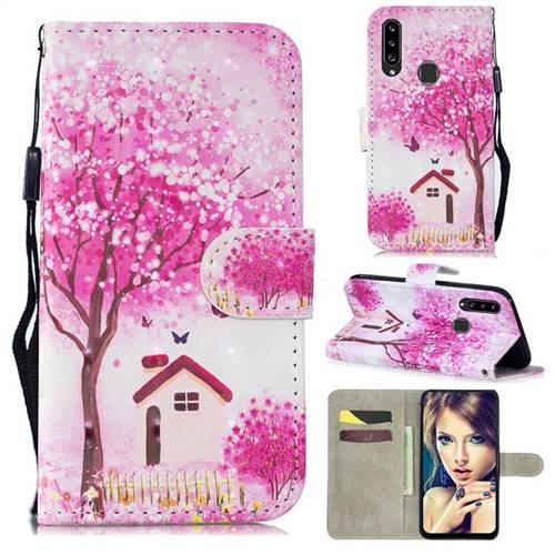 Tree House 3D Painted Leather Wallet Phone Case for Samsung Galaxy A20s