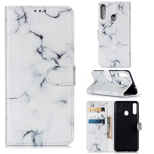 Soft White Marble PU Leather Wallet Case for Samsung Galaxy A20s