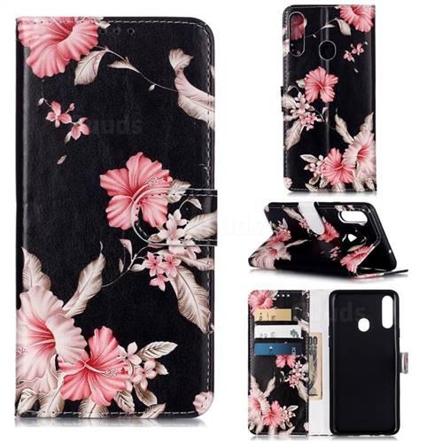 Azalea Flower PU Leather Wallet Case for Samsung Galaxy A20s